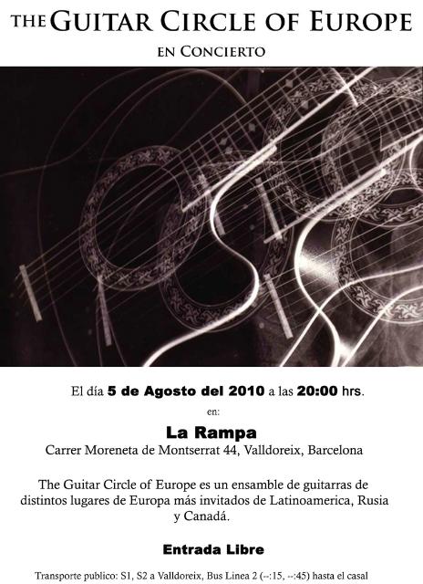 The Guitar Circle of Europe - Clases de Guitarra Barcelona