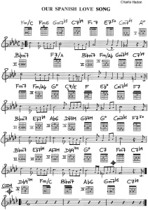 """Our Spanish Love Song"" - Partitura - Clases de Guitarra Barcelona"